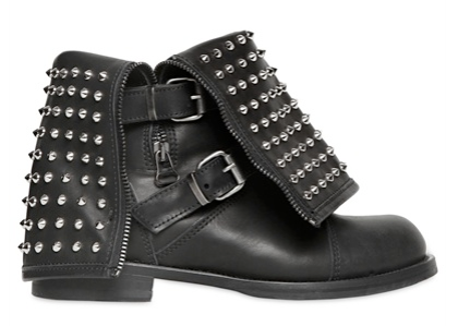 Rollover Studded Combat Boots || The Shoe Dish