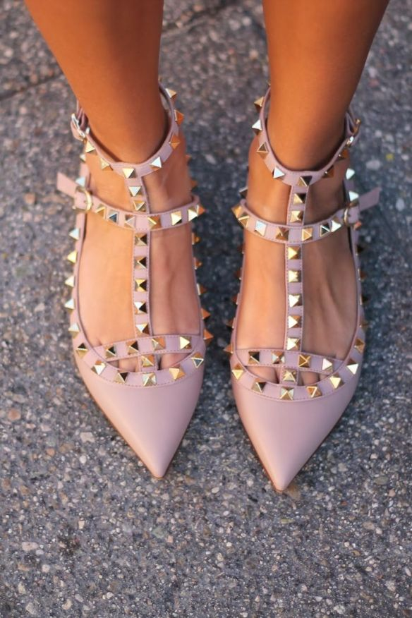 Valentino Rockstud Flats || The Shoe Dish